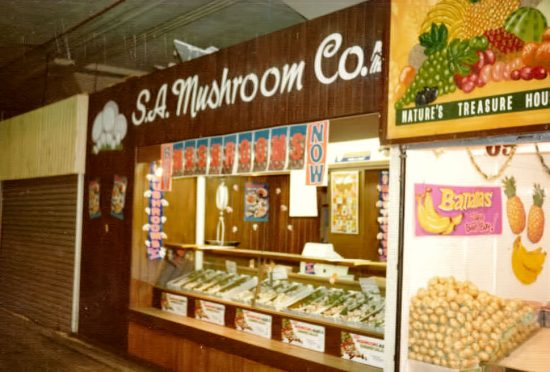 S.A. Mushroom Central Market stall. (Source: Supplied)