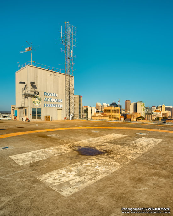 Old Royal Adelaide Hospital Helipad, Gilligan's Island, Disused Photographs, Adelaide, South Australia.
