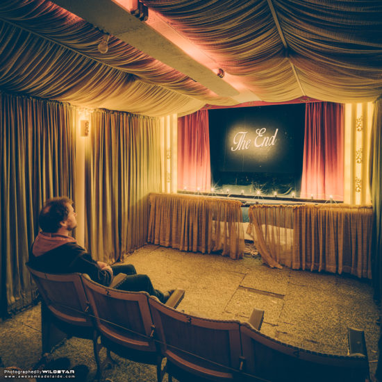 A Suburban Backyard Cinema, Disused Photographs, Adelaide, South Australia.