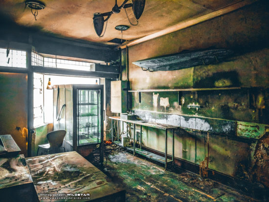 Cafe Inferno, Abandoned Building in Adelaide, South Australia.