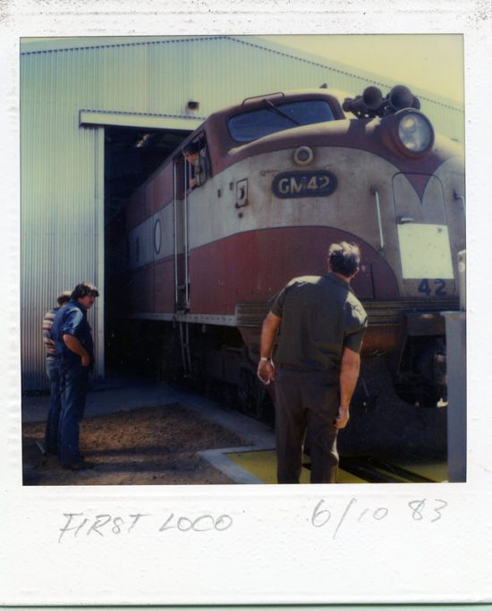 The first coal train to Northern Power Station 6-10-1983.